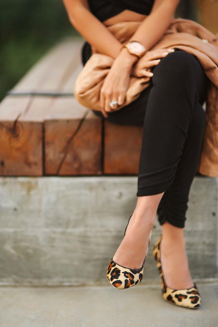 e782dffad5cf6c lace and locks petite fashion blogger harem pants leopard shoes leather  jacket – 07 – Lace and Locks