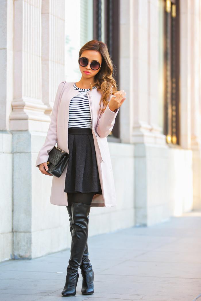lace and locks petite fashion blog pink coat – 02 « Lace and Locks