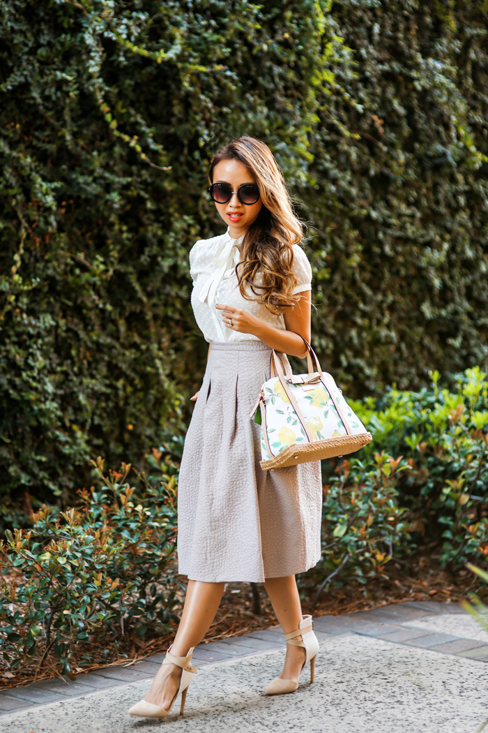 lace and locks petite fashion blogger hm midi skirt – 0067 – Lace ...