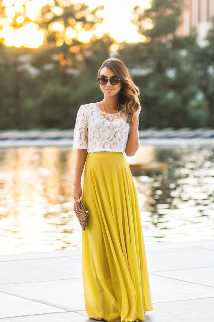 Long Yellow Maxi Skirt - Dress Ala