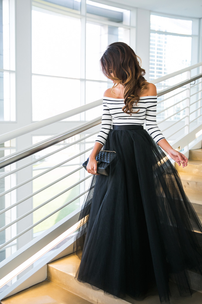 737df76b33364 lace and locks petite fashion blogger black tulle maxi skirt – 03 ...