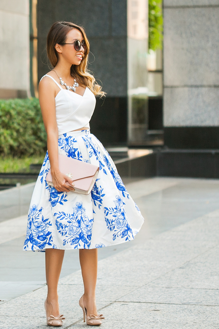 lace and locks petite fashion blogger midi floral skirt – 02 ...