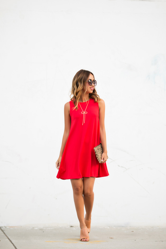 petite fashion blog, lace and locks, los angeles fashion blogger, swing dress, red dress, asos dress, petite dresses for women