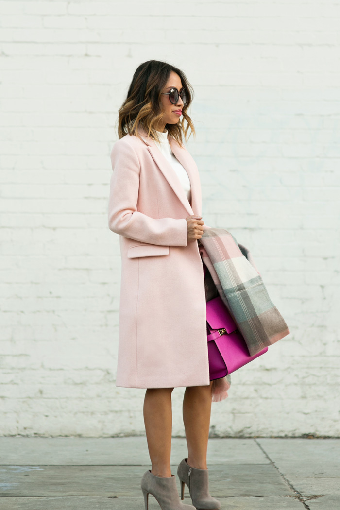 lace and locks petite fashion blogger fall pink coat – 07 « Lace