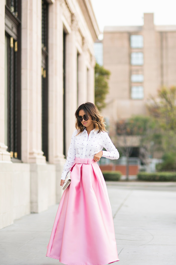 lace and locks petite fashion blogger pink maxi skirt valentine ...