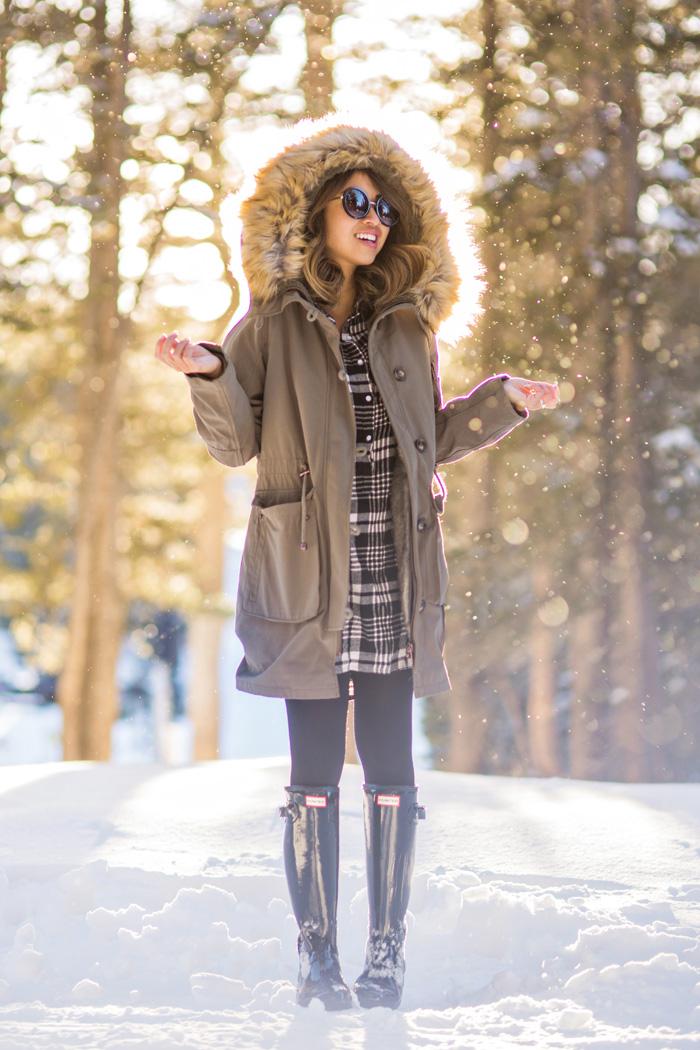 lace and locks petite fashion blogger winter parka cute