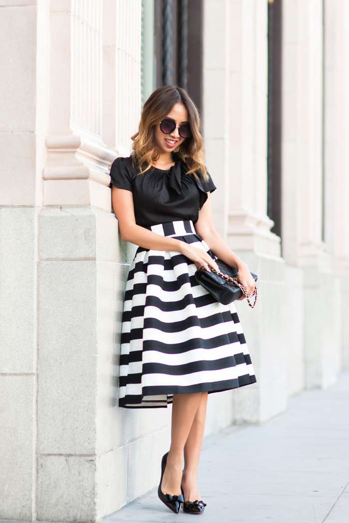 lace and locks petite fashion blogger striped midi skirt – 05 ...